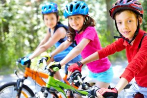family fitness cycling