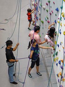 family fitness climbing